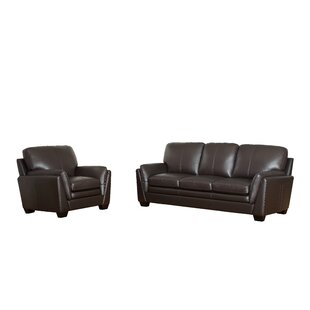 Whitstran 2 Piece Leather Living Room Set by DarHome Co