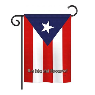 Puerto Rico 2-Sided Vertical Flag by Breeze Decor