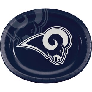 Los Angeles Rams Oval Dinner Plate (Set of 24)