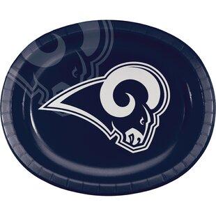 Los Angeles Rams Oval Dinner Plate (Set of 24)