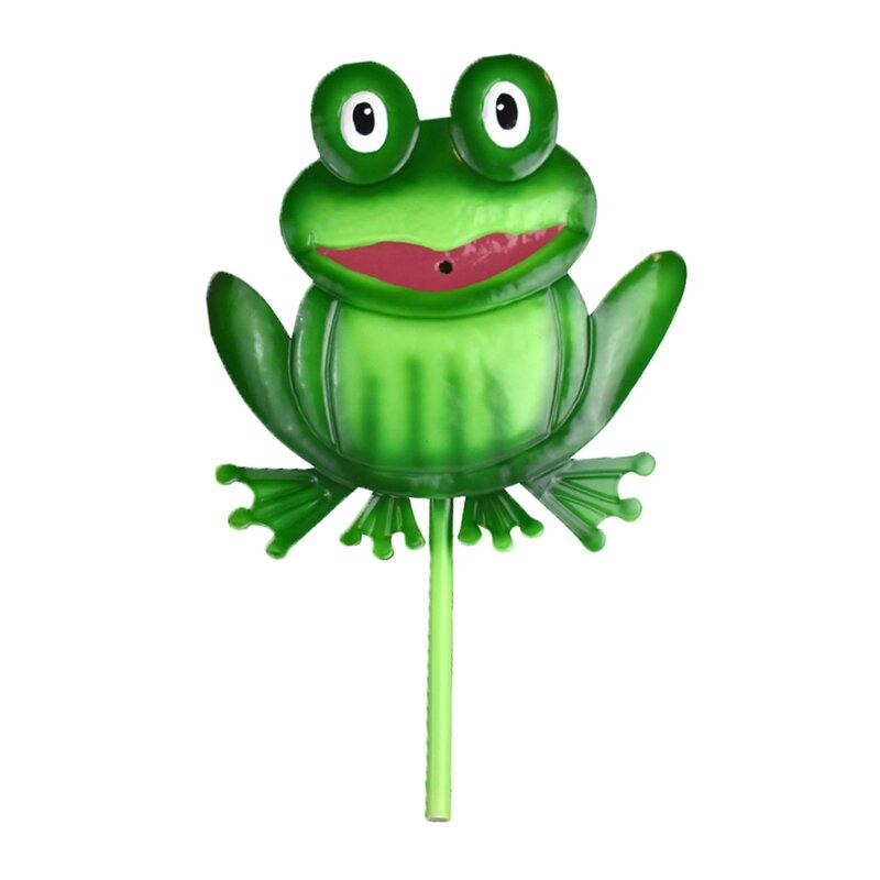 Gardenique Charmer Metal Frog Planter Fountain Wayfair
