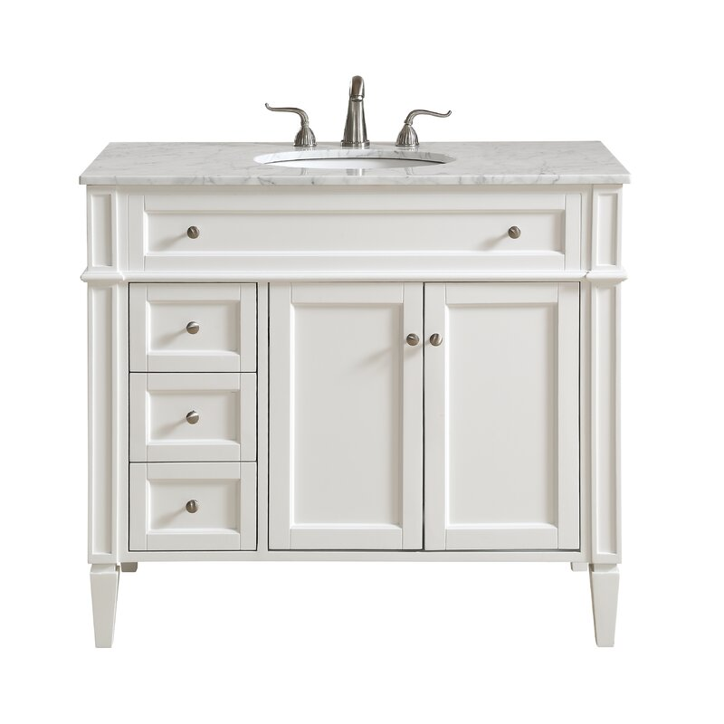 "Antionette 40"" Single Bathroom Vanity Set"