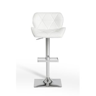 Clower Modern Low Back Adjustable Height Swivel Bar Stool by Orren Ellis