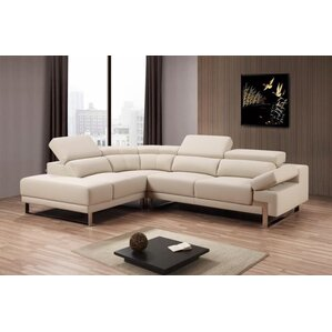 Willa Arlo Interiors Townsend Solid Reclining Sectional
