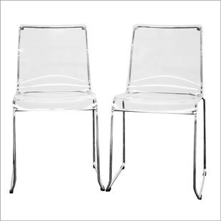 Wholesale Interiors Baxton Studio Lino Dining Chair in Transparent Clear (Set of 2)