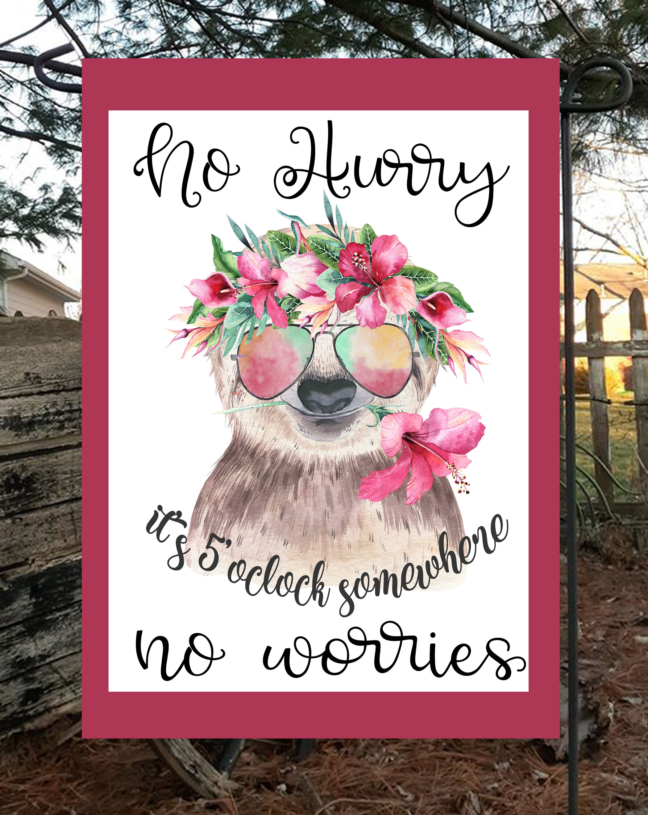 Flags Galore Decor And More Sloth No Worries 2 Sided Polyester 18 X 12 In Garden Flag Wayfair
