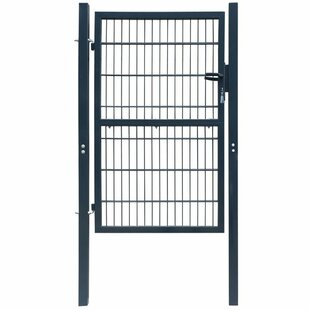 Elwell 3' X 8' (1.06m X 2.5m) Metal Gate By Sol 72 Outdoor