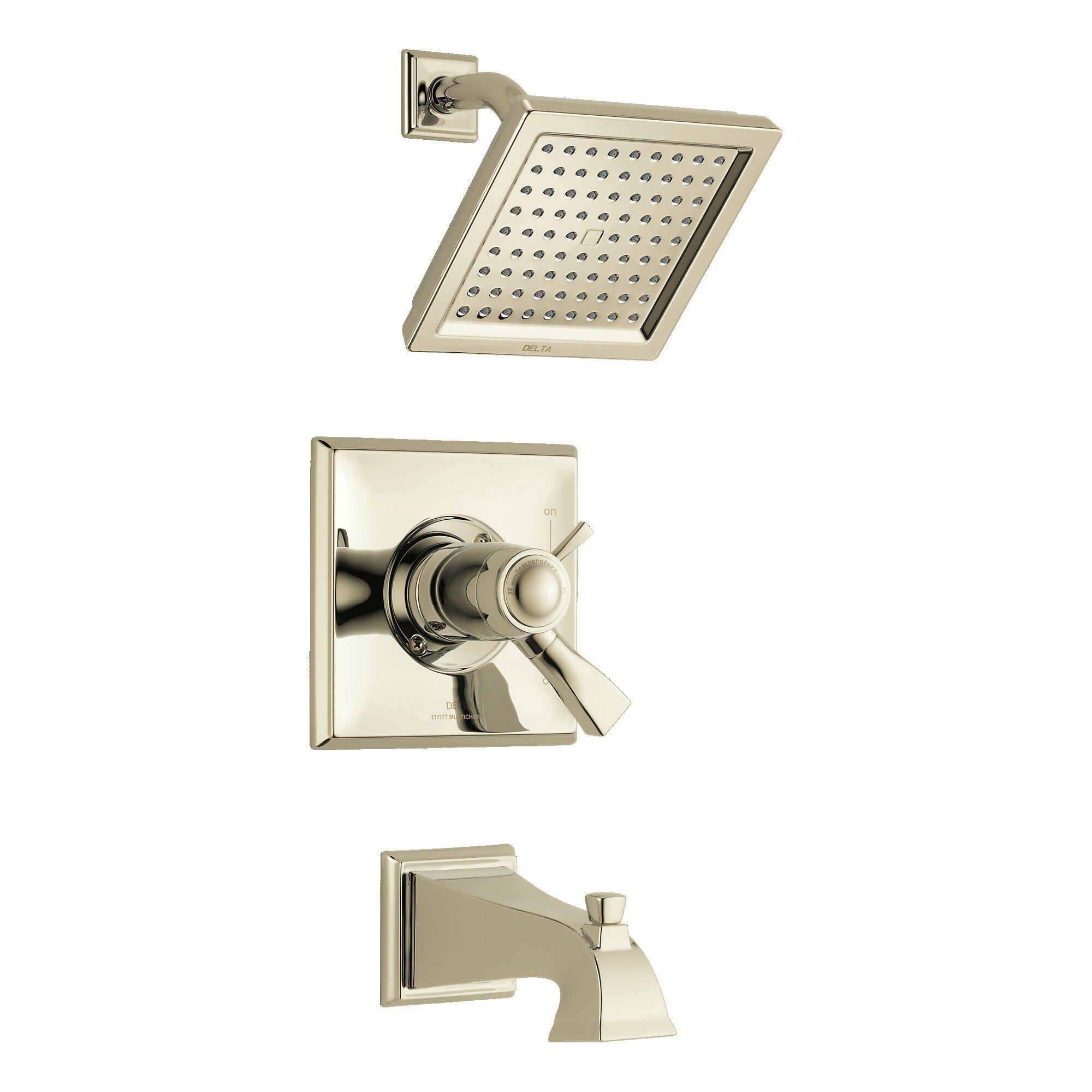 T17t451 Pn Cz Delta Dryden Tub And Shower Faucet With Tempassure