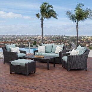 Three Posts Northridge 5 Piece Sunbrella Sofa Set with Cushions
