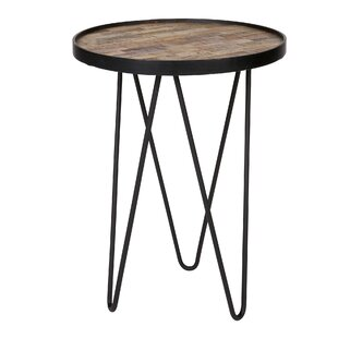 Side tables nest of tables small tables wayfair lev wood metal side table set of 2 greentooth Gallery