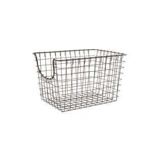 Compare prices Small Scoop Wire Basket By Mercury Row