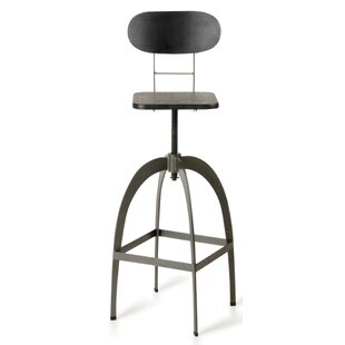 Sheree Adjustable Height Swivel Bar Stool 17 Stories