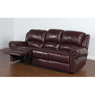 Brazil Leather Reclining Sofa by Darby Home Co