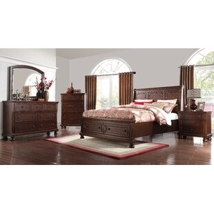 Estefania Sleigh Configurable Bedroom Set by Charlton Home