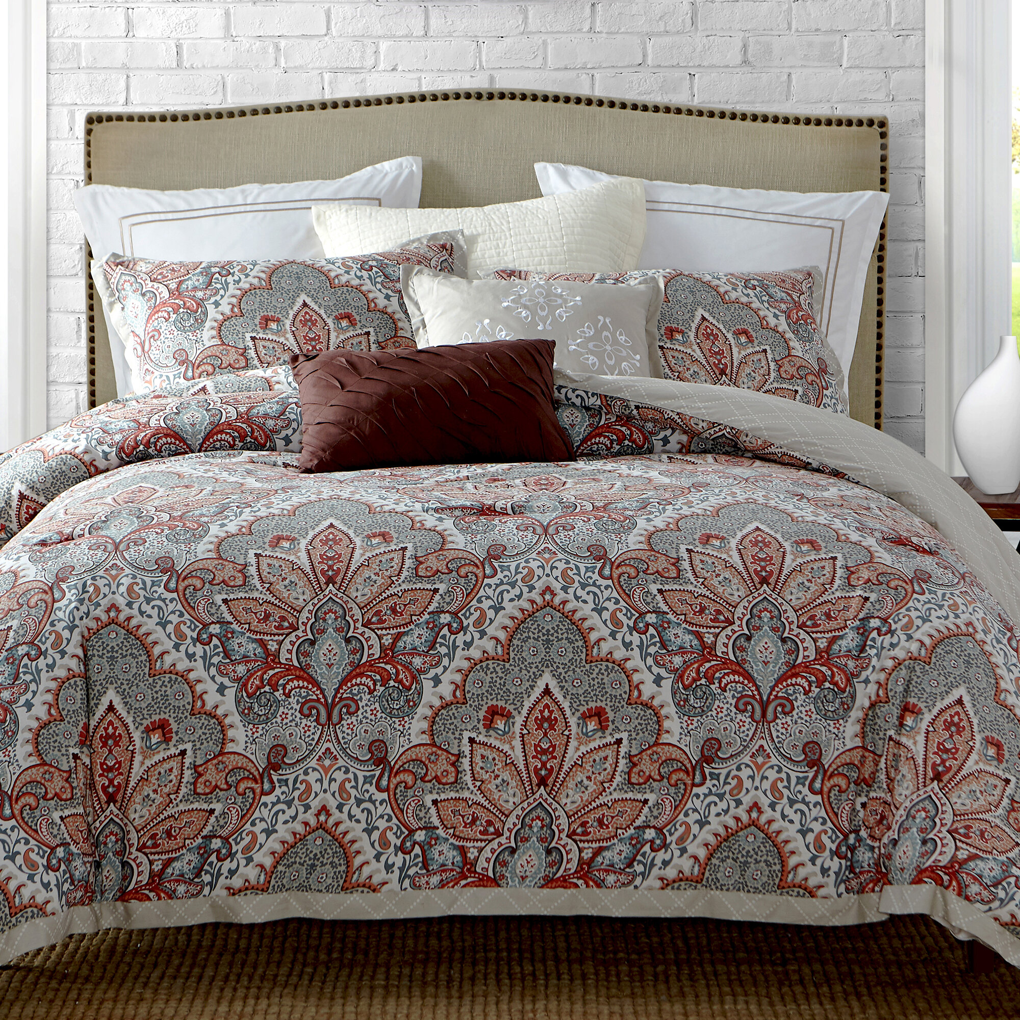 Ellen Tracy Slipcovers Upton Park Reversible Comforter Set Reviews Wayfair