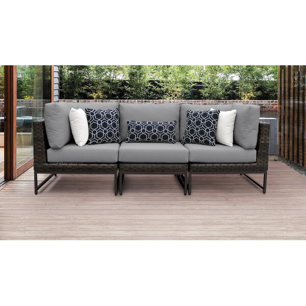 Grey Wicker Outdoor Sectional Joss Main