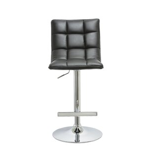 Kouba Adjustable Height Swivel Bar Stool (Set of 2) Orren Ellis