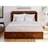 Audet Queen Storage Murphy Bed with Mattress by Canora Grey