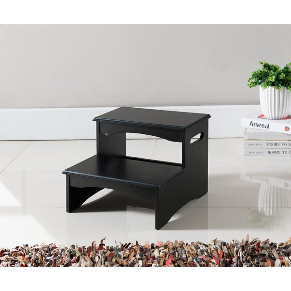Terrific Wood Step Stool For High Beds Wayfair Caraccident5 Cool Chair Designs And Ideas Caraccident5Info