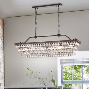 Ophelia & Co. Tyshawn Rectangular 6-Light Crystal Chandelier