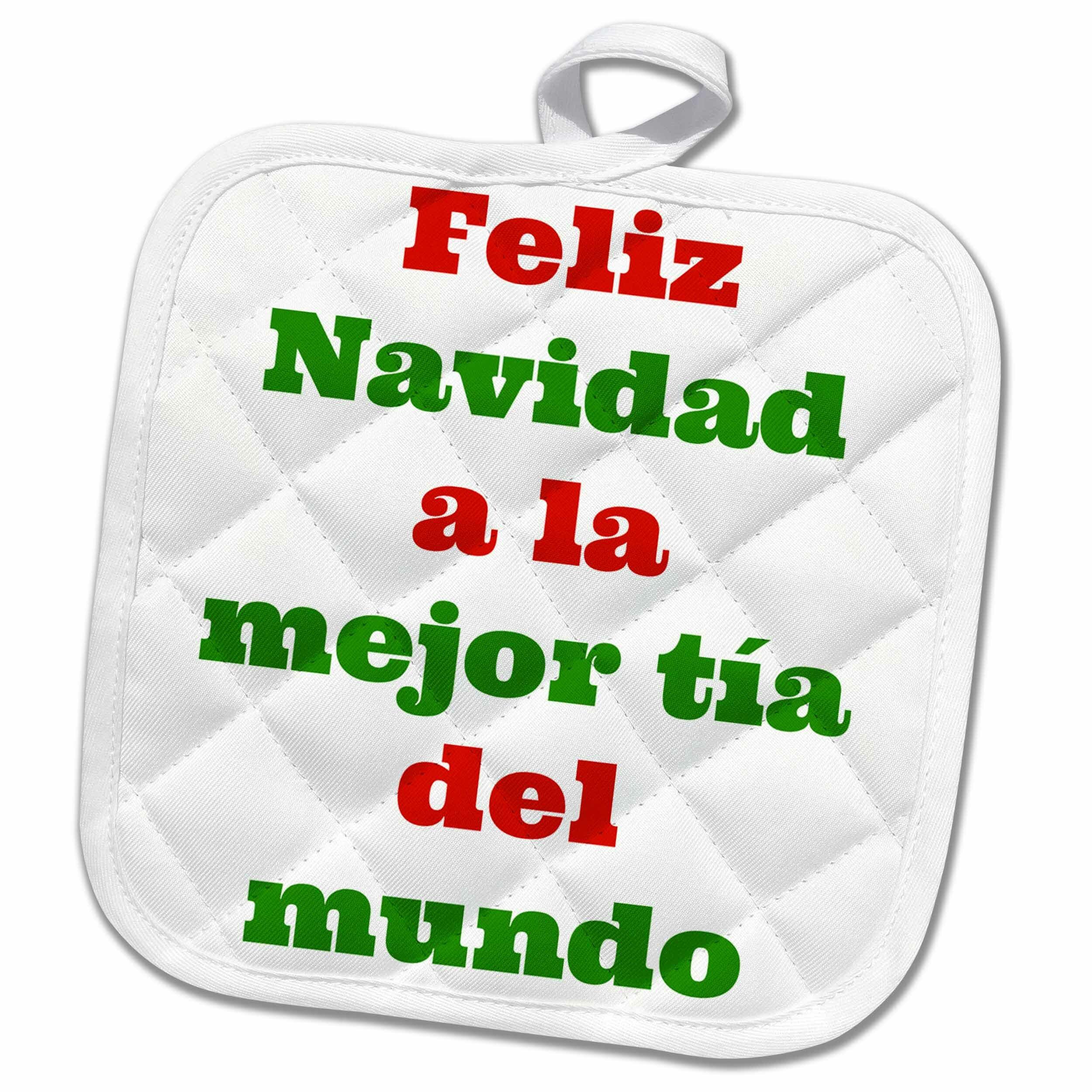 3drose Feliz Navidad A La Mejor Tia Potholder Wayfair