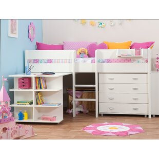 European Single Mid Sleeper Bed With Desk And Chest Of Drawers By Stompa