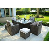 Direct Outdoor Patio 5 Piece Dining Set with Cushions
