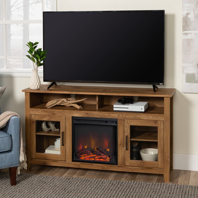 Kohn Tv Stand For Tvs Up To 65 With Fireplace Included Reviews