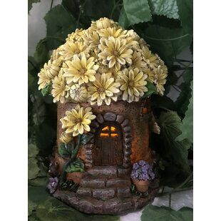 House with Floral Roof Fairy Garden by Hi-Line Gift Ltd.