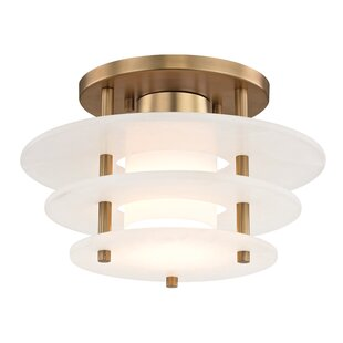 Wade Logan Isabela 1-Light Semi Flush Mount