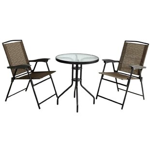 Ebern Designs Stocker Folding Chair and Table 3 Piece Bistro Set