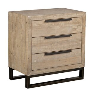 Glenda 3 Drawer Nightstand
