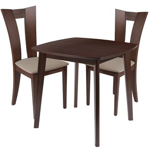 Uma 3 Piece Solid Wood Dining Set by Ebern Designs