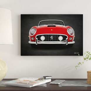 'Ferrari 250 GT' Graphic Art Print on Canvas By East Urban Home