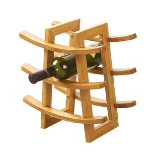 Harless Bamboo 9-Bottle Tabletop Wine Rac..