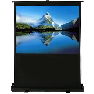 White Portable Projection Screen by Elunevision Best