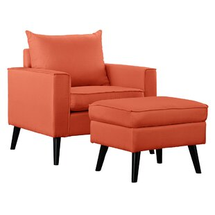 Ebern Designs Brisson Arm Chair and Ottoman