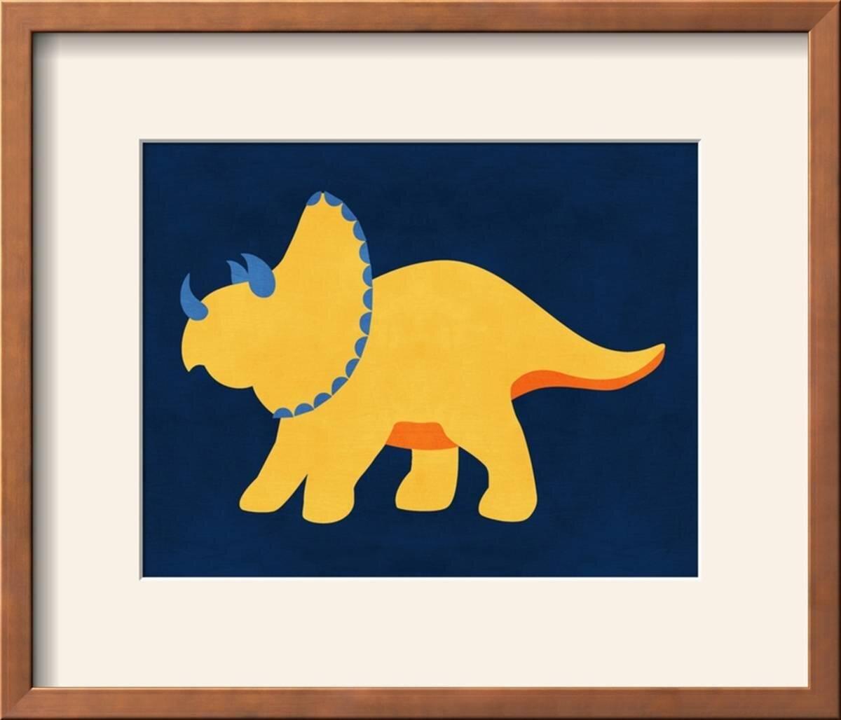 Zoomie Kids \'Dino 444\' Framed Graphic Art Print | Wayfair