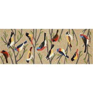 Ismay Birds Cream/Black Indoor/Outdoor Area Rug
