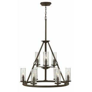 Hinkley Lighting Dakota 9-Light Shaded Chandelier