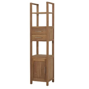 Galyno 45 x 190cm Free Standing Tall Bathroom Cabinet by Tikamoon