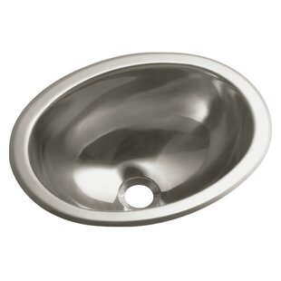 Entertainment Metal Oval Drop-In Bathroom Sink By Sterling by Kohler