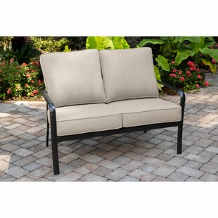 Colson Patio Loveseat with Sunbrella Cushions by Gracie Oaks