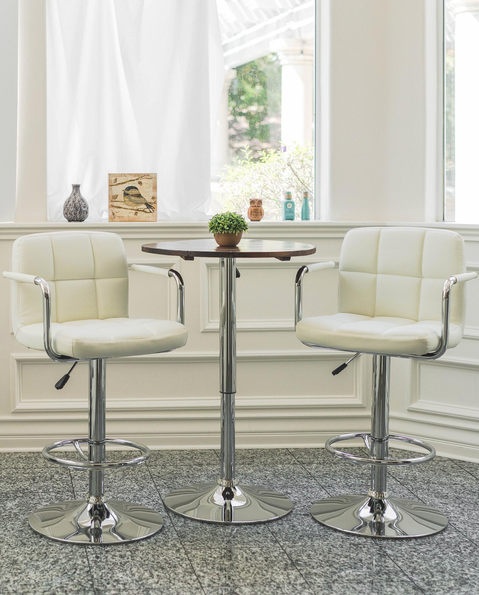 Orren Ellis Wolbert Direct Adjustable Height Swivel Barstool Reviews Wayfair Ca