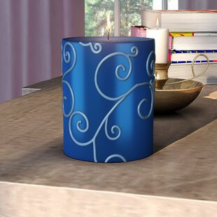 Scroll Unscented Pillar Candle