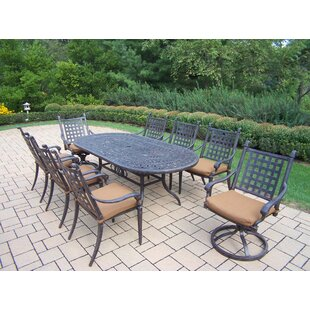 Darby Home Co Vandyne Oval 9 Piece Dining..