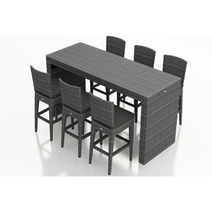 Hobbs 7 Piece Sunbrella Bar Height Dining Set With Cushion