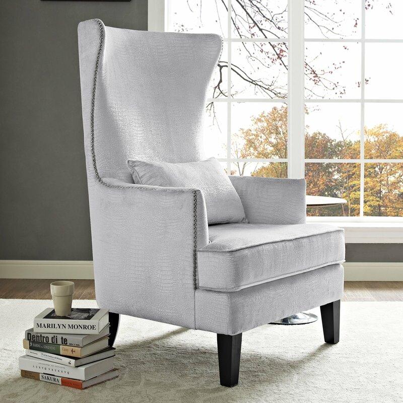 Jacinto Velvet Wingback Chair