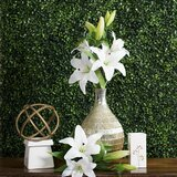 """Six Quality 27/"""" Choose Tiger Lily Artificial Faux Silk Flower Spray"""