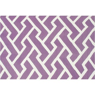 Horton Hand-Hooked Purple Indoor/Outdoor Area Rug Threadbind